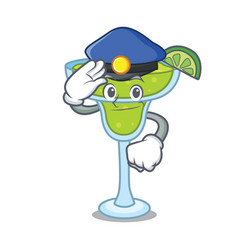 police margarita character cartoon style vector image
