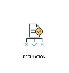 Regulation concept 2 colored line icon simple vector