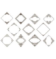 Retro set of vintage frames vector