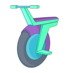 Self-balancing scooter icon cartoon style vector
