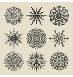 set circular patterns vector image