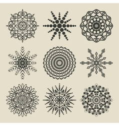 Set of circular patterns vector