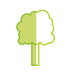 Silhouette ecology tree to environment care icon vector