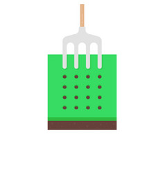simple cartoon style lawn aeration icon vector image