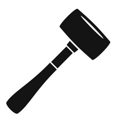 Sledge hammer icon simple style vector