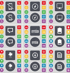 Smartphone Flash Monitor Chat bubble Keyboard vector image
