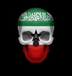 Somaliland flag skull vector