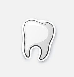 Sticker human tooth vector