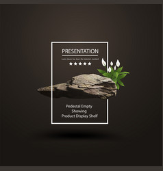 Stone podium for product presentation display vector