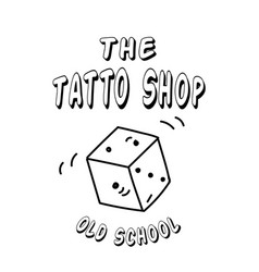 tattoo shop dice background image vector image