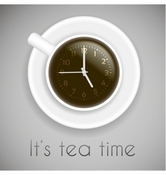 Tea time theme - creative idea with cup of tea and vector