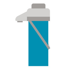 Thermos flat on white vector