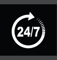 Twenty four seven arrow icon vector