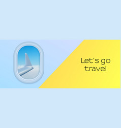 view from airplane from porthole vector image