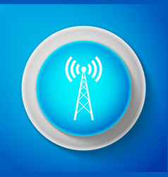 White antenna icon radio antenna wireless vector