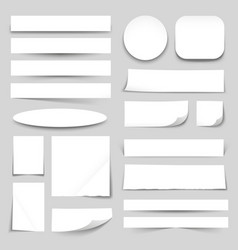 White Blank Paper Banners Collection vector