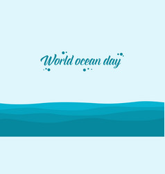 World ocean day background vector