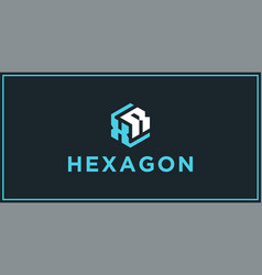 Xr hexagon logo design inspiration vector