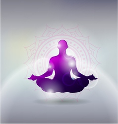Yoga gray background vector