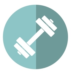 barbell fitness gym icon design shadow vector image