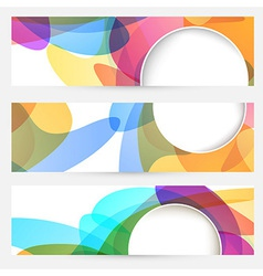 Collection of bright abstract design cards vector image
