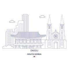 daegu linear city skyline vector image vector image