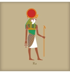 Ra God of the sun icon flat style vector image vector image