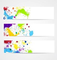 Watercolor splash banners vector image vector image