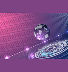 abstract background with futuristic glass sphere vector image vector image