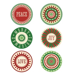 Christmas Stickers Labels Tags vector image vector image