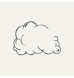 Cloud of dust Black and white style vector image vector image