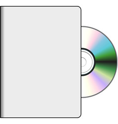 DVD cover with disk vector image