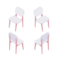 group of isometric of white chairs vector image