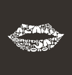 Mouth body vector image