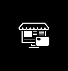 online store icon business concept vector image vector image