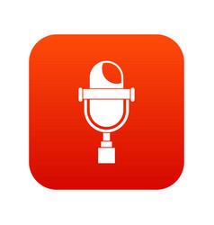 retro microphone icon digital red vector image vector image