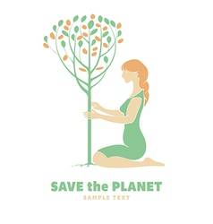 Save Planet vector image