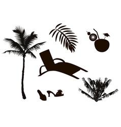 Vacation Icon Set vector image vector image