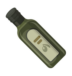 a bottle of olive oilolives single icon in vector image