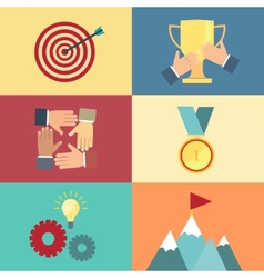 achieving goal success concept vector image vector image