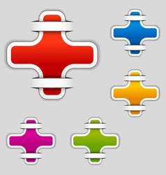 Blank attached cross labels vector
