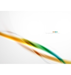 Bright color wave with blur and glowing effects vector image vector image