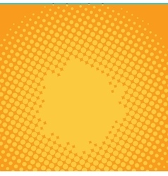 Halftone yellow pop art background vector image