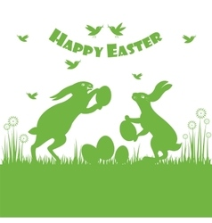 Happy easter colorful postcard background vector image