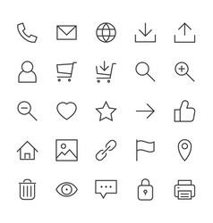 most used webdesign icons ui set vector image