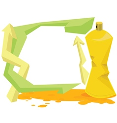 Spray color with graffiti drop on isolate vector image vector image