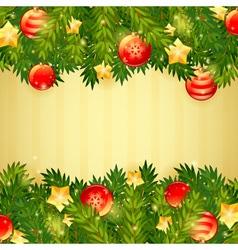Christmas invitation golden card vector image