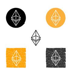 ethereum - symbol of digital crypto vector image