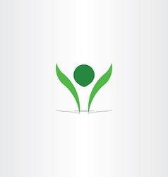 green logo healthy man symbol element sign vector image vector image