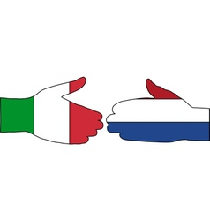 International Handshake vector image vector image
